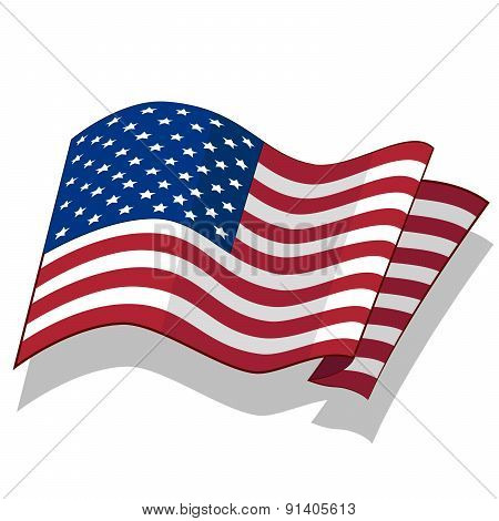 Flag of the USA.
