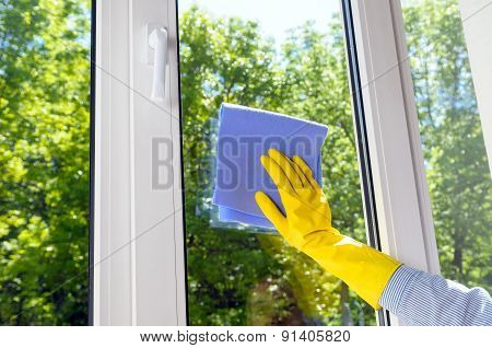 Plastic Vinyl Window