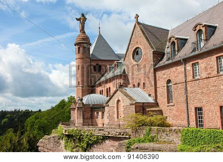 Mont Saint-odile In The Vosges Mountains In Alsace, France
