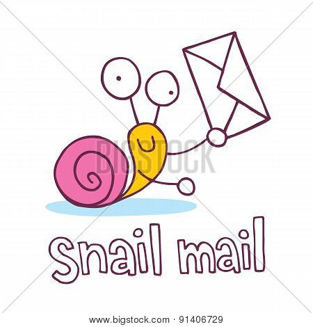 snail mail cartoon character
