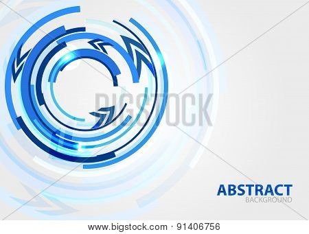 Lines in circle composition. Abstract background