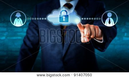 Manager Touching Locked Cloud Linked To Workers