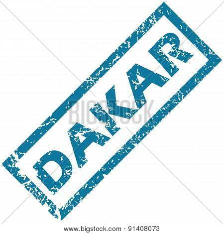 Dakar rubber stamp