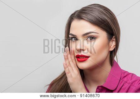 Pretty girl is telling a secret