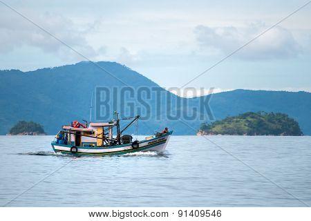 Small fisherman boat