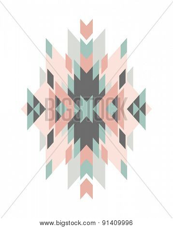 design element with ethnic geometric ornament