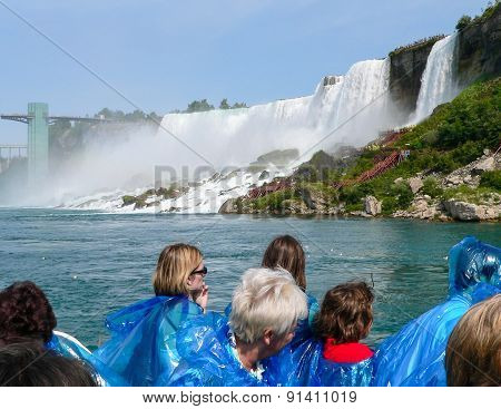 Tourists Watching Niagara Falls