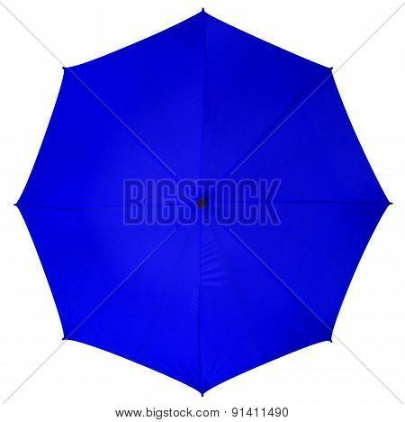 Blue Umbrella Isolated