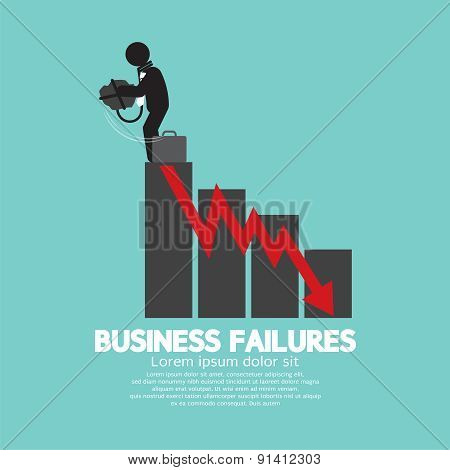 Hopeless Man With Business Failures Concept.