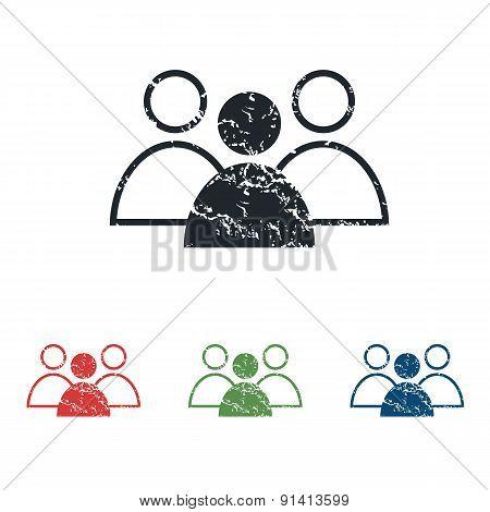 User group grunge icon set