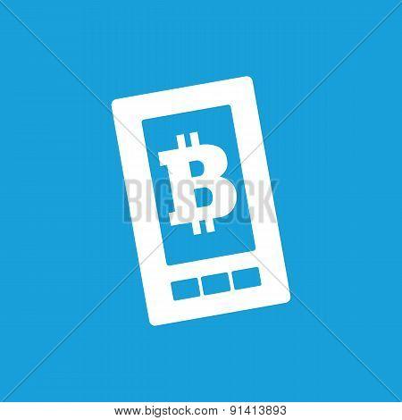 Bitcoin on screen icon