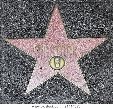Phil Harris Star On Hollywood Walk Of Fame