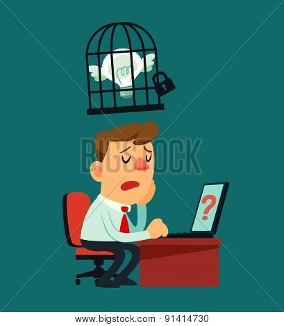 Businessman Idea In A Cage
