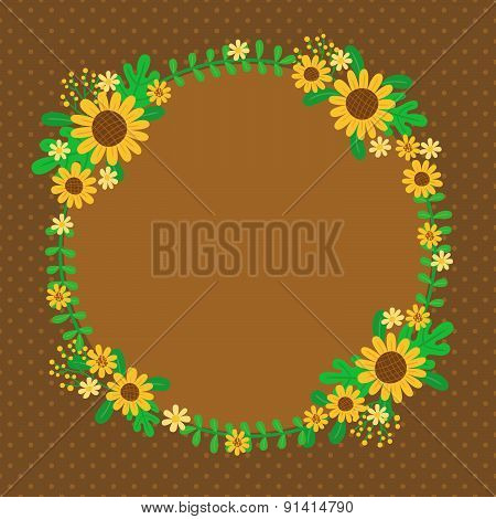 Sunflowers Spring Card