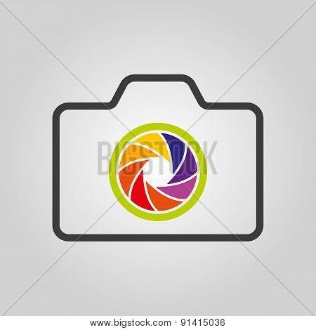 The Camera Icon. Photo Symbol. Flat