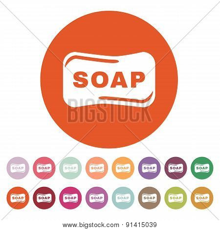 The Soap Icon.  Soap Symbol. Flat