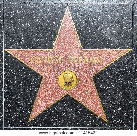 George Peppard's Star On Hollywood Walk Of Fame