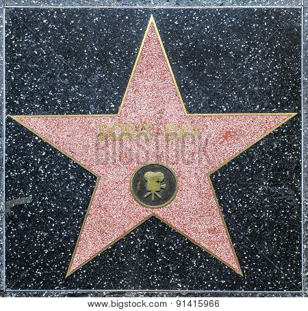 Doris Day's Star On Hollywood Walk Of Fame