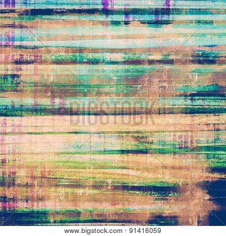Background with grunge stains. With different color patterns: yellow (beige); brown; blue; green