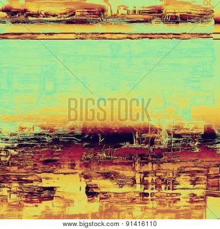 Abstract grunge background or old texture. With different color patterns: yellow (beige); brown; purple (violet); blue
