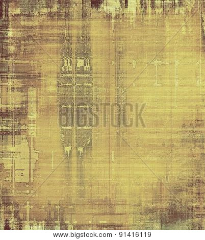 Grunge retro vintage texture, old background. With different color patterns: yellow (beige); brown; gray