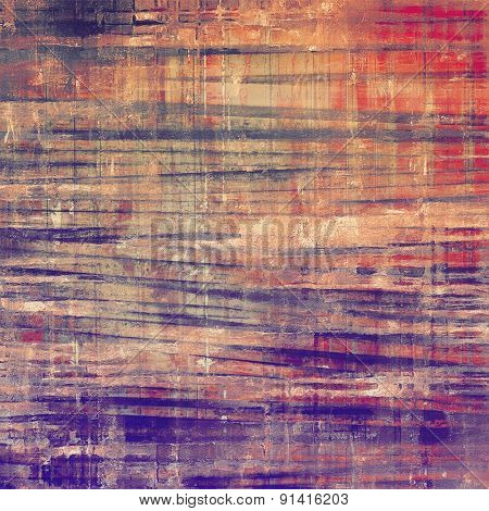 Designed grunge texture or background. With different color patterns: brown; gray; purple (violet); red (orange)