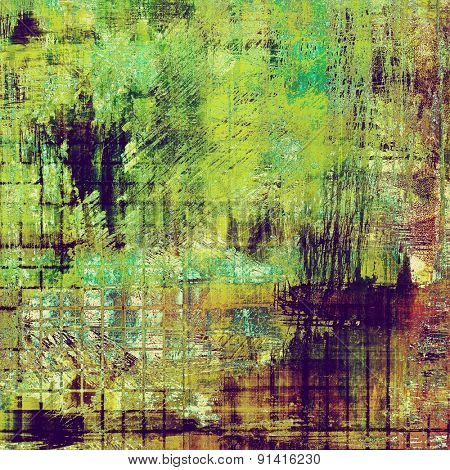 Grunge texture, distressed background. With different color patterns: brown; purple (violet); green; cyan