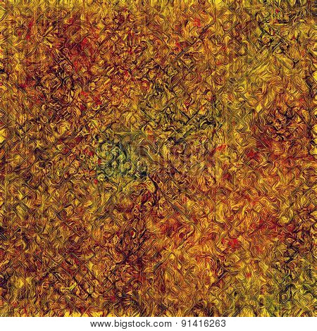 Designed grunge texture or background. With different color patterns: yellow (beige); brown; pink; green