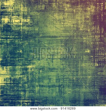 Old school textured background. With different color patterns: yellow (beige); purple (violet); blue; green