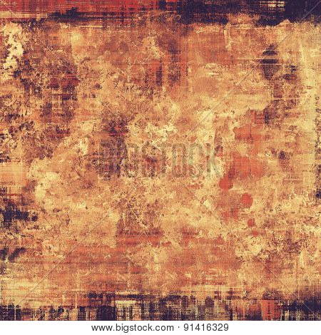 Highly detailed grunge texture or background. With different color patterns: yellow (beige); brown; red (orange); black