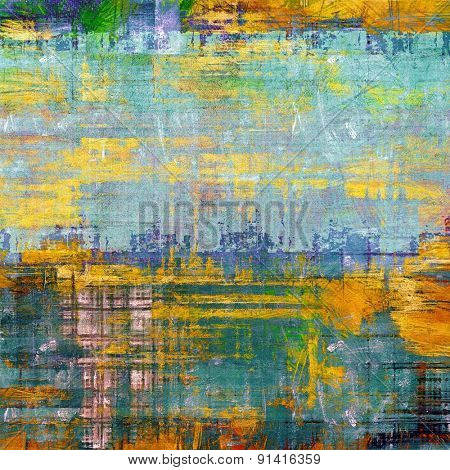 Grunge background with vintage and retro design elements. With different color patterns: yellow (beige); brown; blue; green