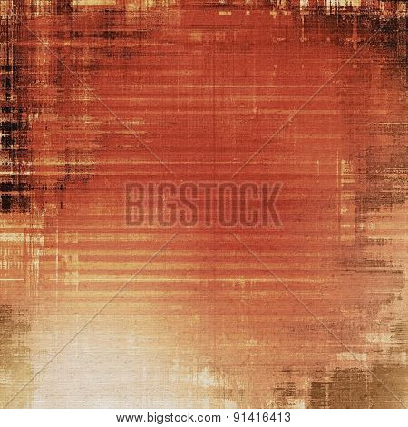 Dirty and weathered old textured background. With different color patterns: yellow (beige); brown; gray; red (orange)