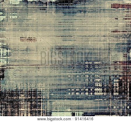 Cracks and stains on a vintage textured background. With different color patterns: brown; gray; blue; black