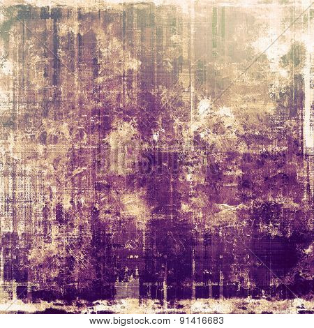 Cracks and stains on a vintage textured background. With different color patterns: yellow (beige); brown; gray; purple (violet)