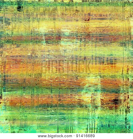 Grunge, vintage old background. With different color patterns: yellow (beige); brown; blue; green