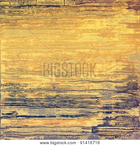 Old antique texture - perfect background with space for your text or image. With different color patterns: yellow (beige); brown; gray; blue