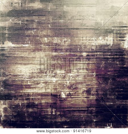 Grunge old texture as abstract background. With different color patterns: brown; gray; purple (violet); black