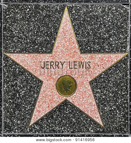 Jerry Lewis's Star On Hollywood Walk Of Fame