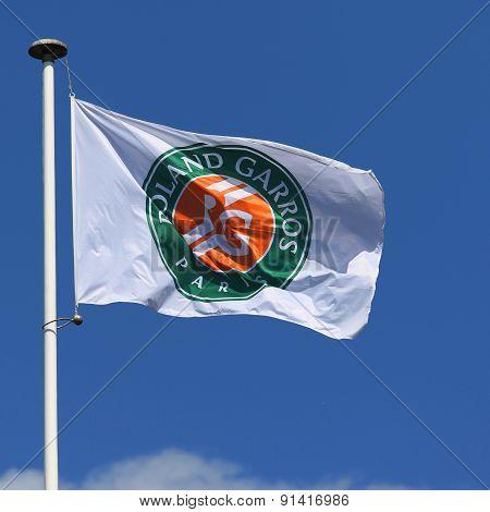 Roland Garros flag at Le Stade Roland Garros