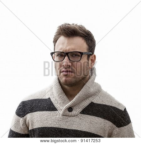 Portrait Of A Yound Angry Man