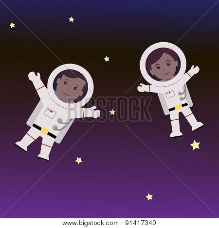Man and Woman astronaut