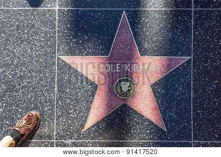 Nicole Kidmans Star On Hollywood Walk Of Fame
