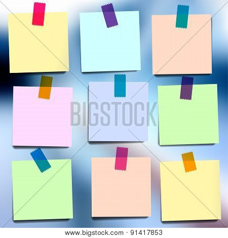 Sticky notes wallpaper