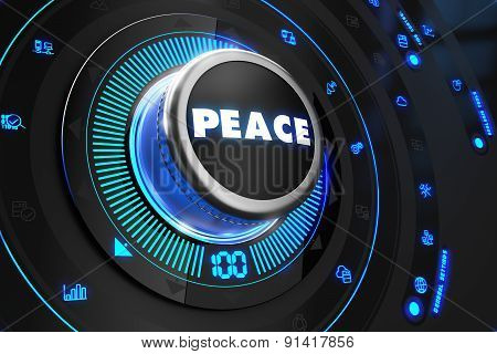 Peace Controller on Black Control Console.