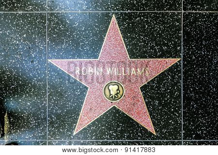 Robin Williams's Star On Hollywood Walk Of Fame