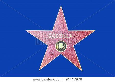 Godzillas Star On Hollywood Walk Of Fame