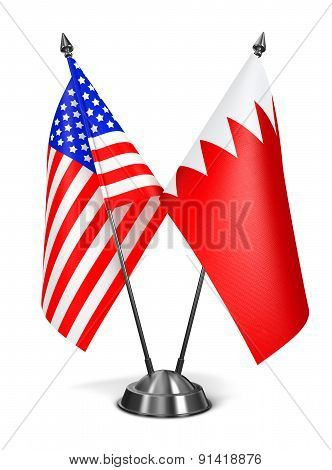 USA and Bahrain - Miniature Flags.