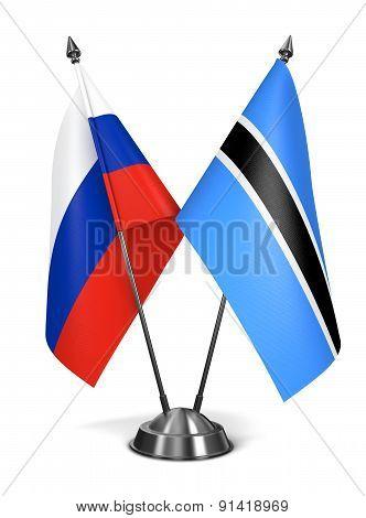 Russia and Botswana - Miniature Flags.