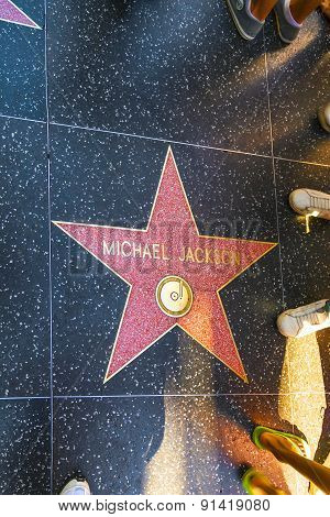 Michael Jacksons Star On Hollywood Walk Of Fame