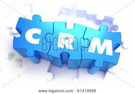 CRM - White Word on Blue Puzzles.